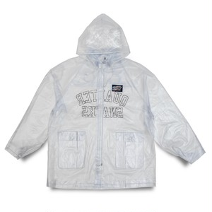 QUARTERSNACKS / INVISIBLE RAINCOAT -CLEAR PVC-