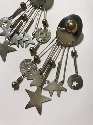 Vintage mexican 925 silver star pierced  earrings ( ヴィンテージ メキシカン シルバー スター ピアス )