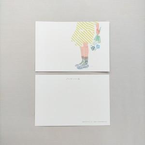 ポストカード|黄色のワンピース