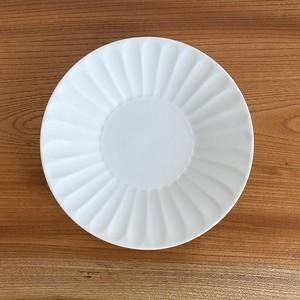 波佐見焼 白磁竹林彫プレート ケーキ皿