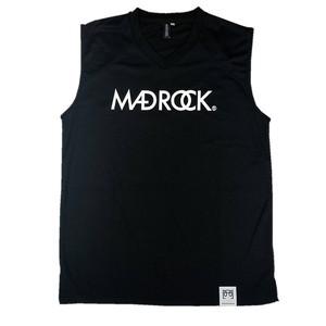 マッドロックロゴ ノースリーブ/ドライタイプ/ブラック