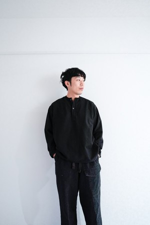 """【Deadstock】""""Soviet Army, Black Dyed"""" 1970s Vintage Sleeping Shirts"""