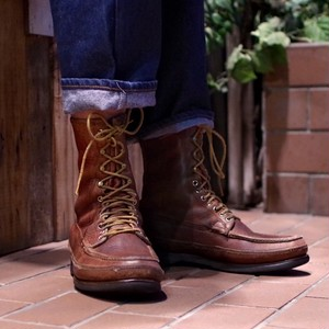 "1970-80s Russell Moccasin ""BIRD SHOOTER"" TRIPLE VAMP Hunting Boots / ラッセル モカシン"