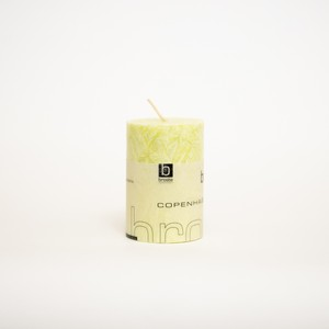 crystal piller candle  lime (outlet)