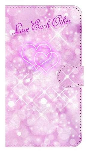 【鏡付き Mサイズ】Love Each Other 愛し愛される素敵な関係 愛情運アップ 手帳型スマホケース