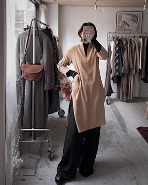 vintage arabian shirt dress - orange beige & gray -