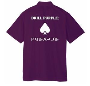 ドリルパープル ポロシャツ