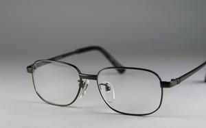 薄型非球面レンズ使用、強度(+4.00~+6.00)老眼鏡セット:メタルフレーム:グレー5903