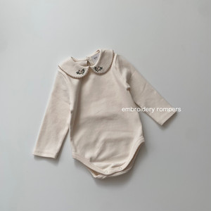 713. embroidery collar rompers