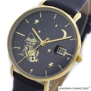 ムーミン MOOMIN 腕時計 レディース MOM-04-3NV デイトスターリー クォーツ ネイビー