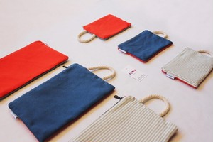 FEDE SAILOR CORALLO CANVAS POCHETTE S