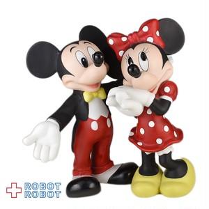 ディズニーミッキーマウス&ミニーマウス  陶器製フィギュアリン