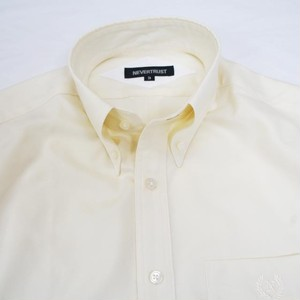 【形態安定】 Non-Iron Short Sleeve Shirt  / Ivory