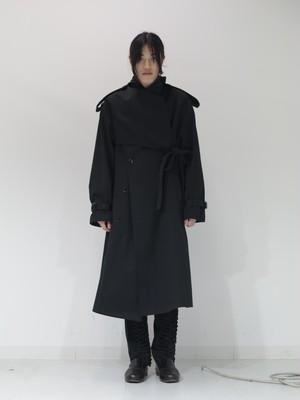 【 KEISUKEYOSHIDA 】belted trench coat ( black )