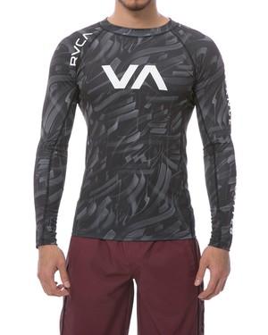VA SPORT メンズ RVCA L/S コンプレッションウェア CMO