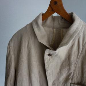 classic heavylinen country coat / lightbeige