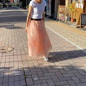 【SALE】ayane アヤン 4枚重ねチュールスカート ピンク