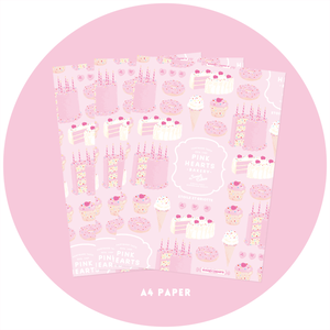 PINK HEARTS BAKERY A4ペーパー