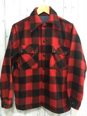 ビンテージ赤黒ブロックチェックCPOジャケット ウールシャツ