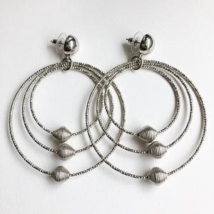 silver design hoop pierce[p-538]