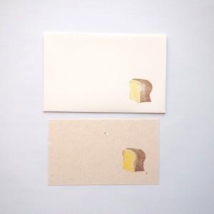 ツメサキの世界 パンのメッセージカード 食パン