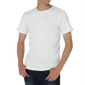 リブヘンリーネック半袖Tシャツ