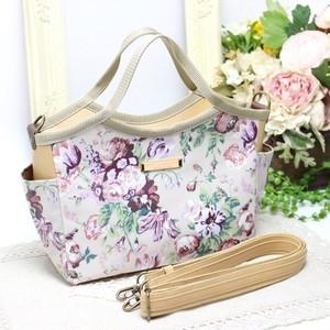 クラシカルな絵画のような花柄のリバティプリント【Magical Bouquet】を使ったバケットバッグC
