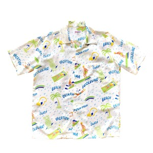Mountain Men's オープンアロハシャツ / VACATION / White
