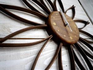 サンフラワークロック(L)ウォールナットsunflower clock (L) walnut