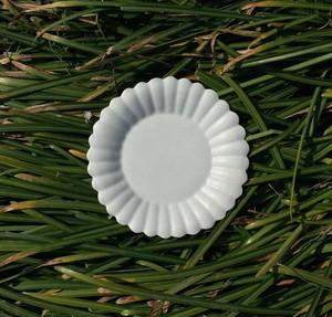 白磁輪花デザート皿 (小)