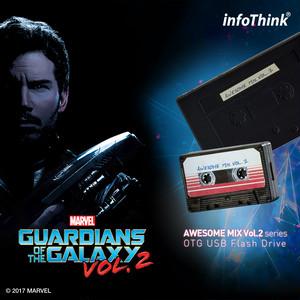 InfoThink OTG USBメモリ MARVEL ガーディアンズ・オブ・ギャラクシー:リミックス OTG MicroUSB USB フラッシュドライブ 16GB カセットテープ