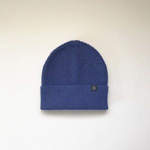 さらっとふんわりニット帽 Blue