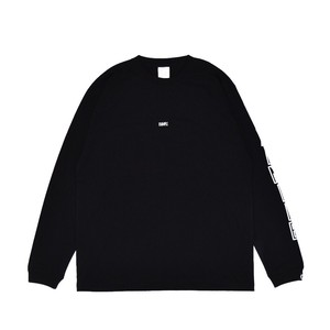 EMBROIDERY SMALL LOGO L/S TEE / BLACKxWHITE