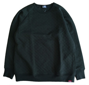 KNIT QUILT SWEAT /KAHKI