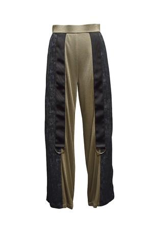 koll / lame rib pants / Gold
