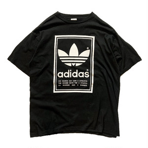 """OLD Adidas 両面トレフォイル """"Made in USA"""" Printed  Tee"""