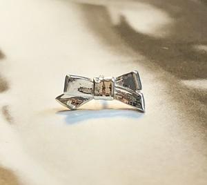 ribbon earring silver925 りぼん片耳ピアス #LJ20015P