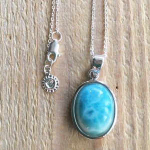 Larimar large oval Necklace