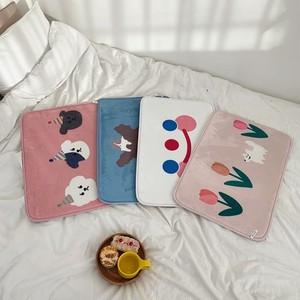 character foot mat 4types / キャラクター フットマット バスマット ラグ カーペット プードル チューリップ 韓国雑貨