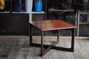 Dyrlund Rosewood Square Coffee Table Mid Century Made in Denmark 1960's