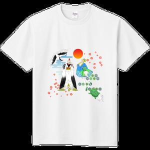 【鶴と亀】定番のTシャツ お見舞いギフト