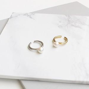 ■pearl ring & cuff -silver-■ パールリング&カフ シルバー