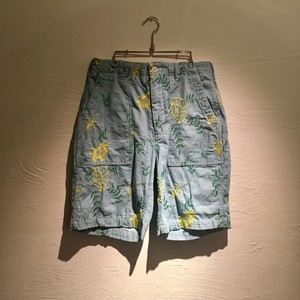 Engineered Garments(エンジニアド ガーメンツ)2019SS Fatigue Short-Denim Floral Embroidery