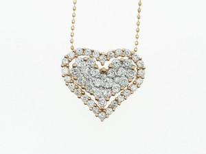 【K18PG】0.750ct UP ダイヤモンドネックレス