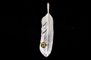 18k eagle metal Life feather
