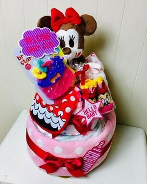 ミニーおむつケーキ
