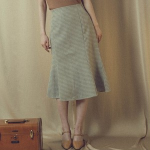 mermaid check skirt (AP39SH005)