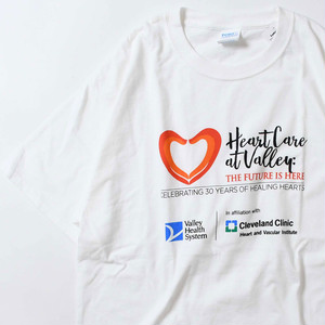 【Lサイズ】 HEARTCARE AT VALLEY TEE 半袖Tシャツ WHITE L 400601191085