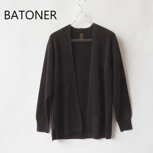 BATONER/バトナー・High Count Rib Cardigan