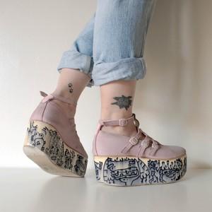 Lactose Intoner-art(ラクトス) 1off platform shoes